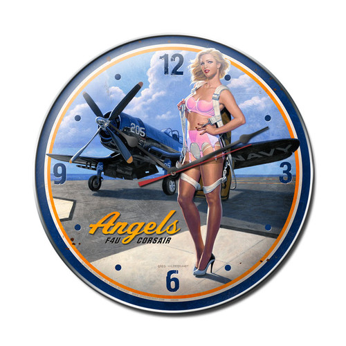 """ANGELS  CORSAIR""  CLOCK"