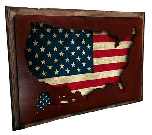 3-D USA MAP DISPLAY  WALL ART