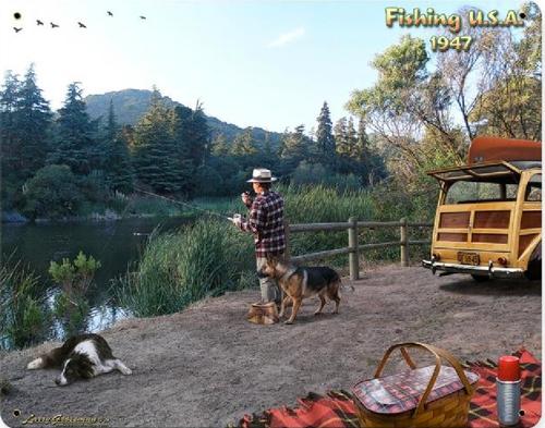 """FISHING  USA  1947"""