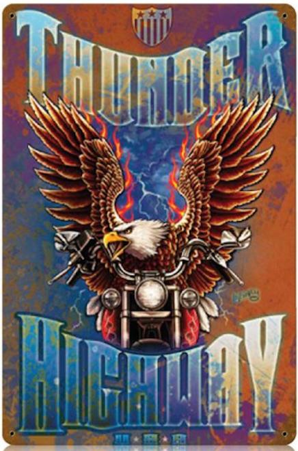 """THUNDER  HIGHWAY""  METAL  SIGN"