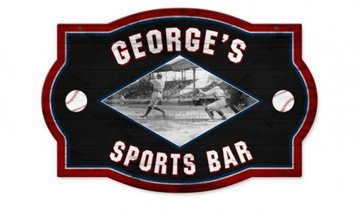 """""""PERSONALIZED  SPORTS  BAR""""  METAL  SIGN"""