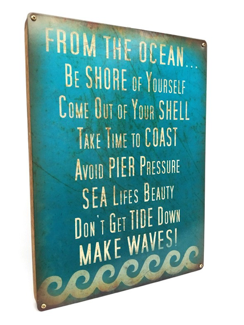 """""""ADVICE FROM THE OCEAN"""" BOXED  SIGN"""