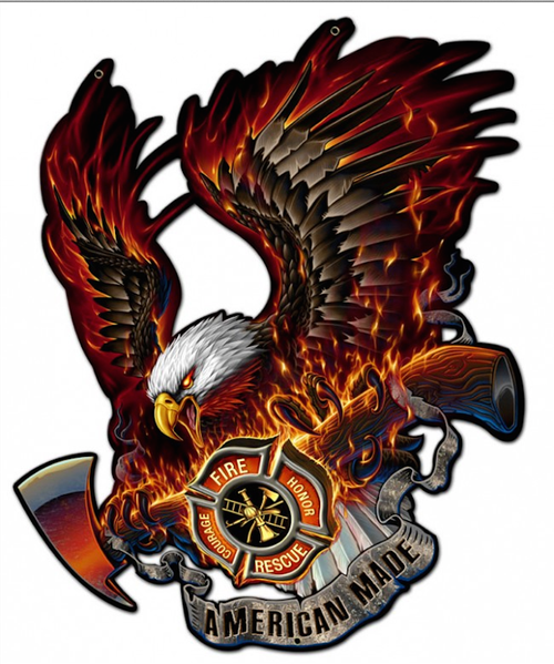 """""""EAGLE  AMERICAN  MADE""""  METAL  SIGN"""