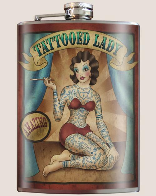 """TATTOOED  LADY""  FLASK"