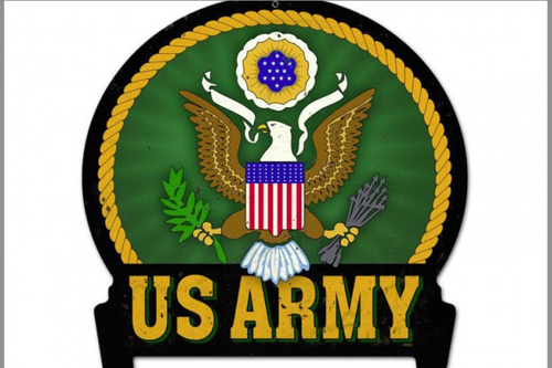""" U.S. ARMY "" METAL SIGN"