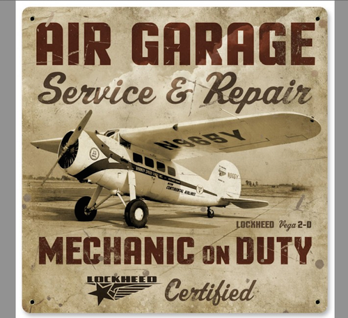 """AIR  GARAGE  REPAIR""  METAL  SIGN"