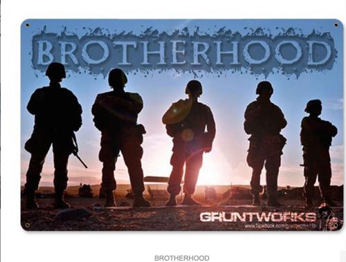 """""""BROTHERHOOD"""" METAL SIGN"""