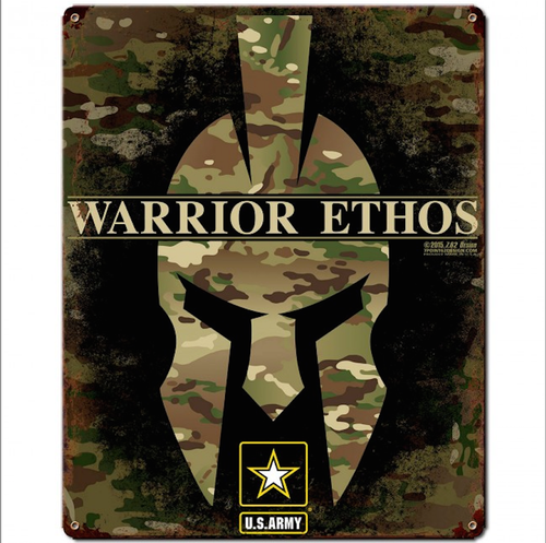 """ARMY  ETHOS""  METAL  SIGN"