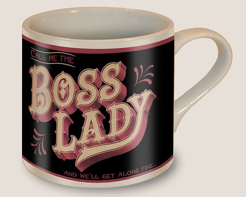 """BOSS  LADY""  COFFEE  MUG"