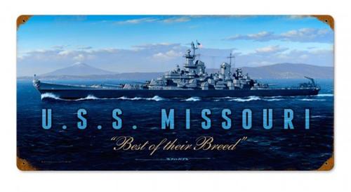 """USS  MISSOURI""  METAL  SIGN"