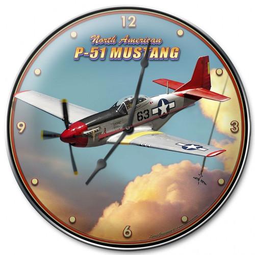 """P-51  MUSTANG""  CLOCK"