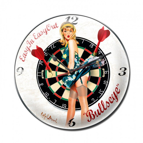 """""""BULLSEYE""""  CLOCK   MADE  IN  THE  USA"""