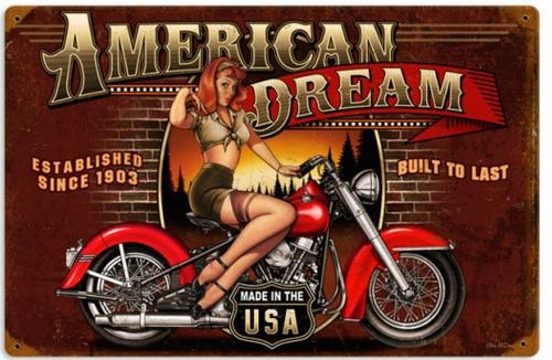 """""""AMERICAN  DREAM""""  METAL  SIGN"""