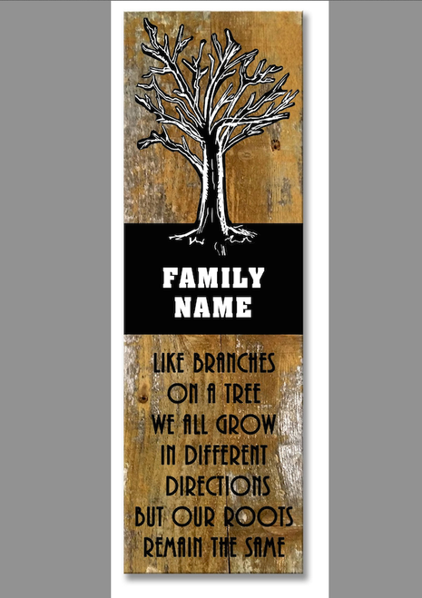 """FAMILY  TREE""  PERSONALIZED  WOODEN  SIGN"