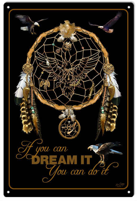 """""""DREAM  IT  AND  DO  IT""""  METAL  SIGN"""