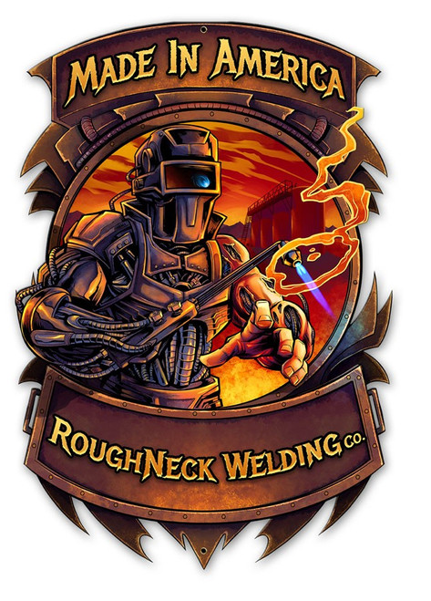 """TRIBUTE  TO  WELDERS""  METAL SIGN"