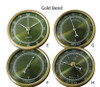 2 3/4 (72MM) Green Face Clock & Weather Insert/Fit Up