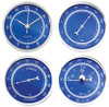 2 3/4 (72MM) Blue Face Clock & Weather Insert/Fit Up
