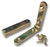 "Solid Brass 1-9/16"" Side Rail Hinges (Pair) with Screws"