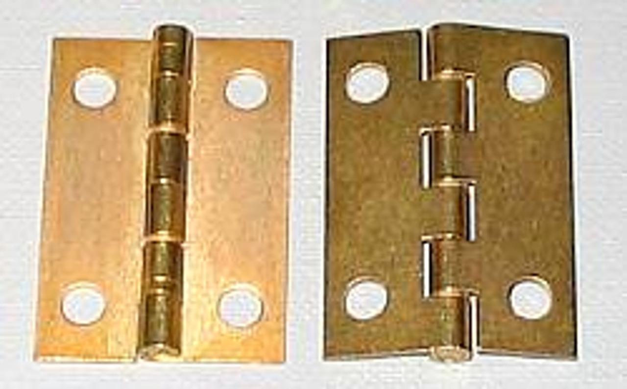 1 x 1-1/2 Brass Plated Butt Hinge