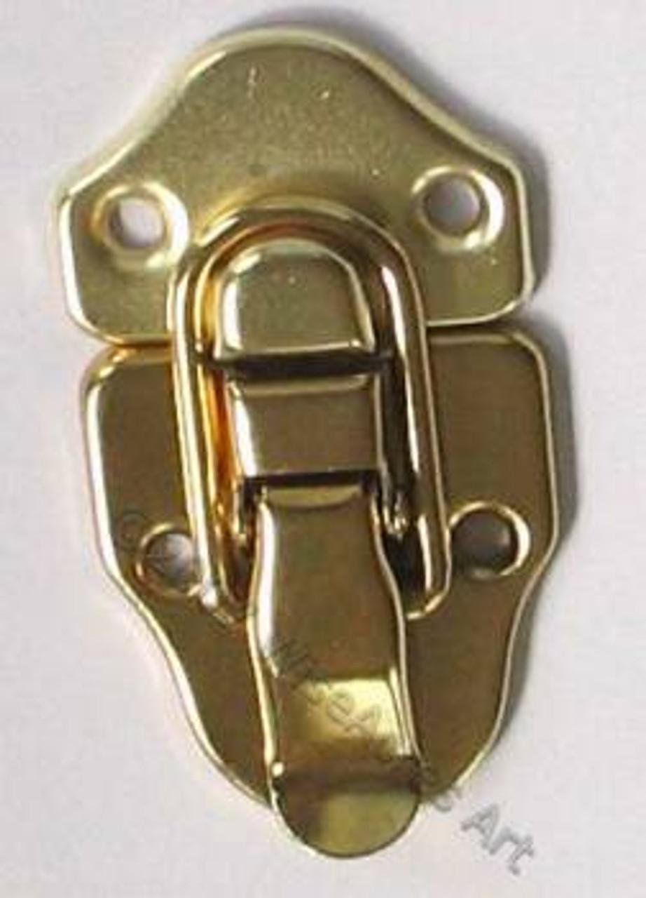 Drawbolt Latch Brass Plated NO Lock Loop
