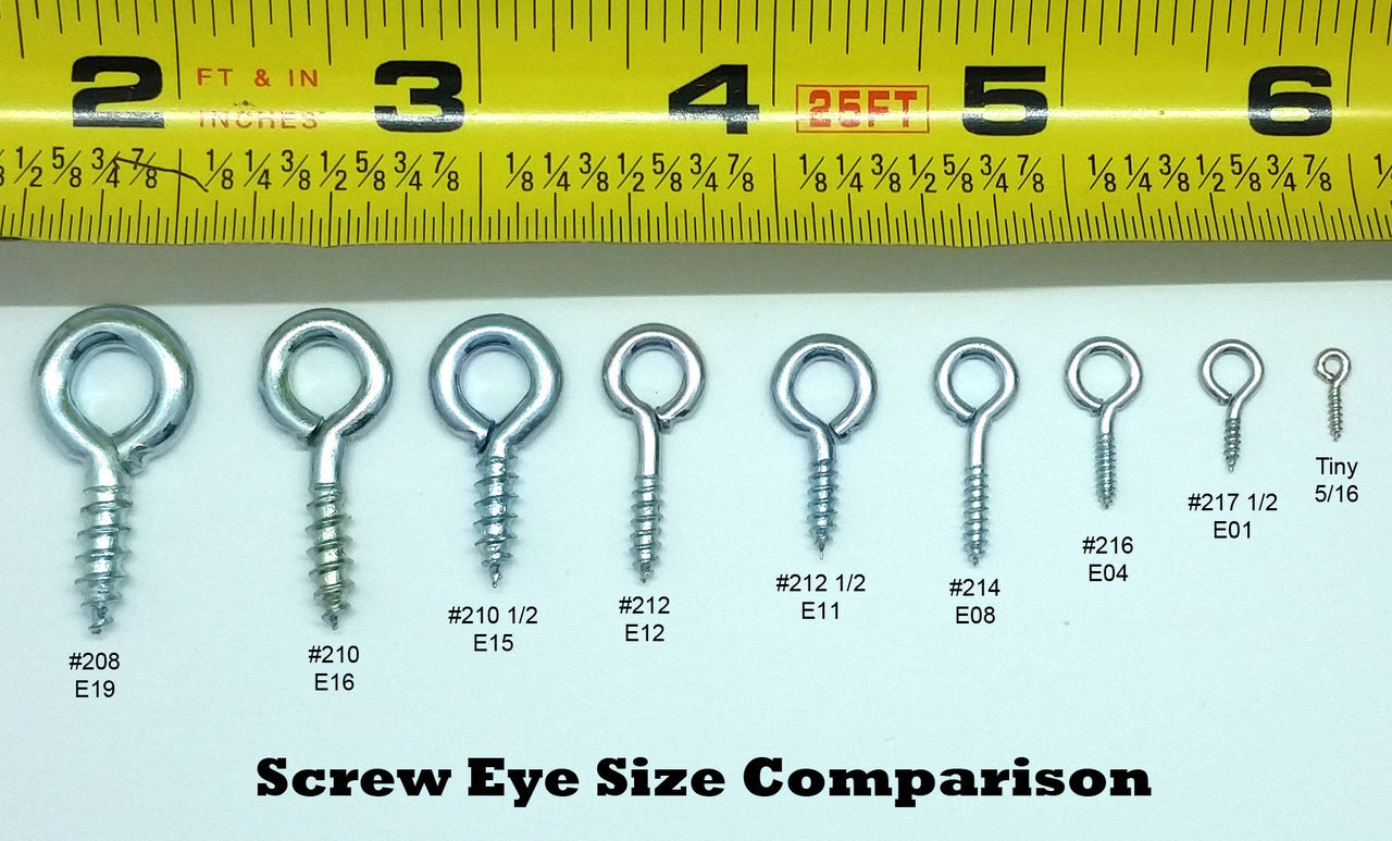 Screw Eyes 208 1/2 Zinc Plate 1-3/16 long