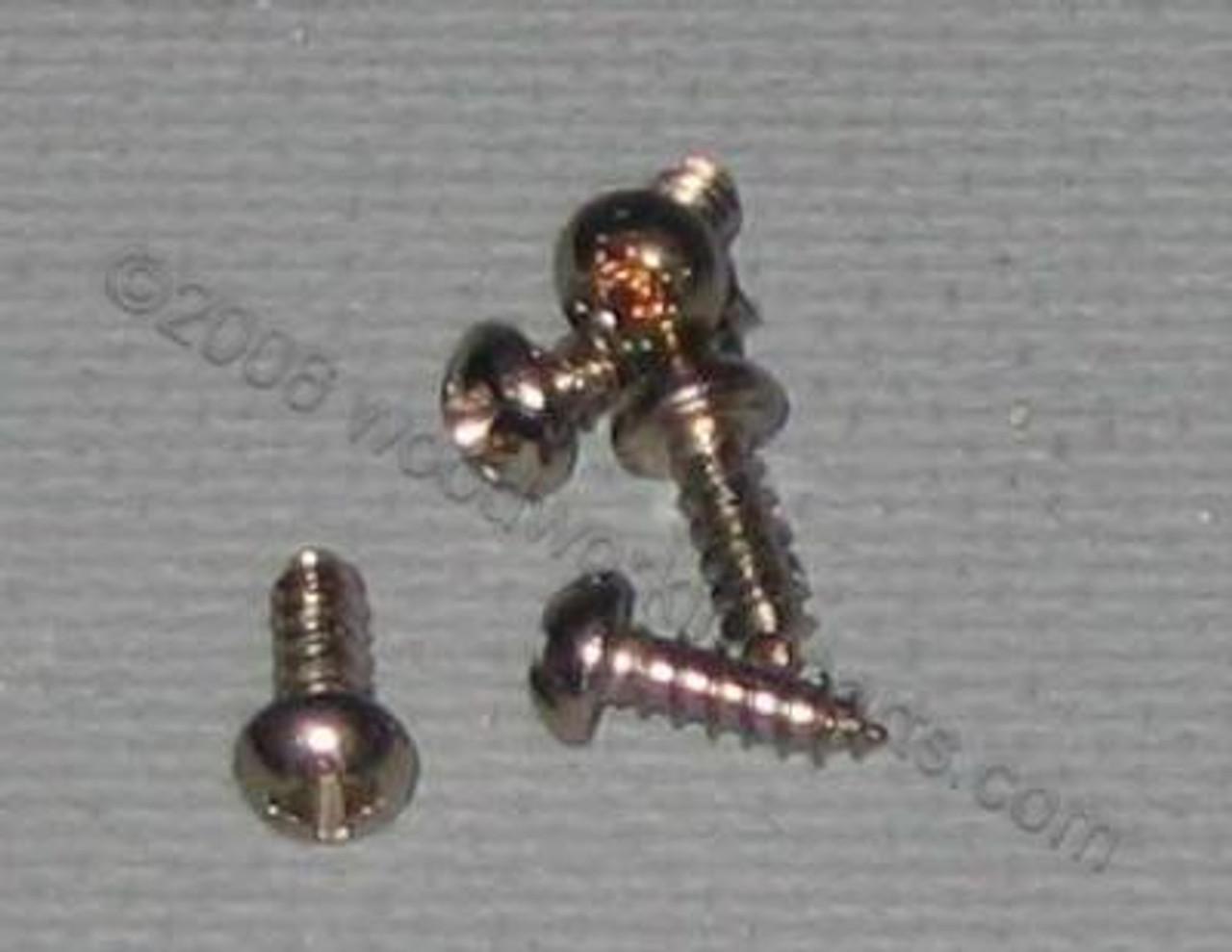 #4  Phillips Round Head Nickel Plated Screw