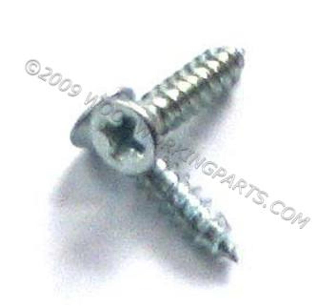 """#4 x 1/2"""" Zinc Plated Phillips Flat Head Screw"""