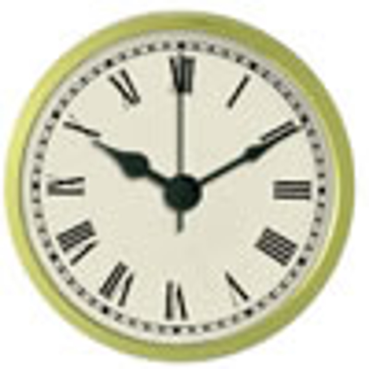 2-1/4 Inch (59mm) Ivory Face Roman Clock Insert/Fit Up
