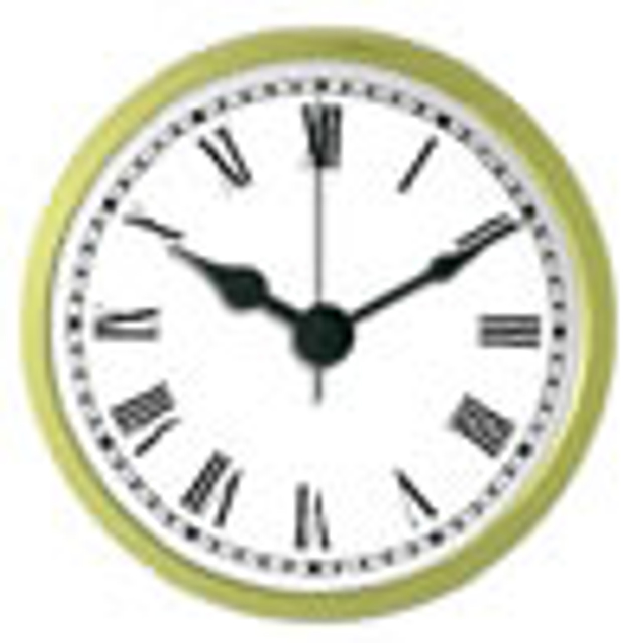 2-1/4 Inch (59mm) White Face Roman Clock Insert/Fit Up