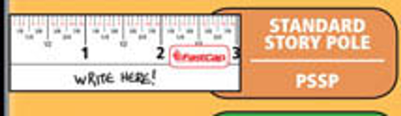 Flatback Story Pole Measuring Tape 16 FT tape image