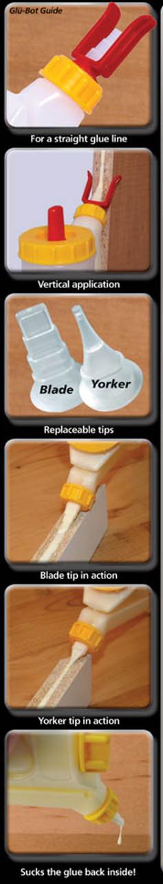 Babe-Bot Dripless Glue Bottle 4 oz information chart