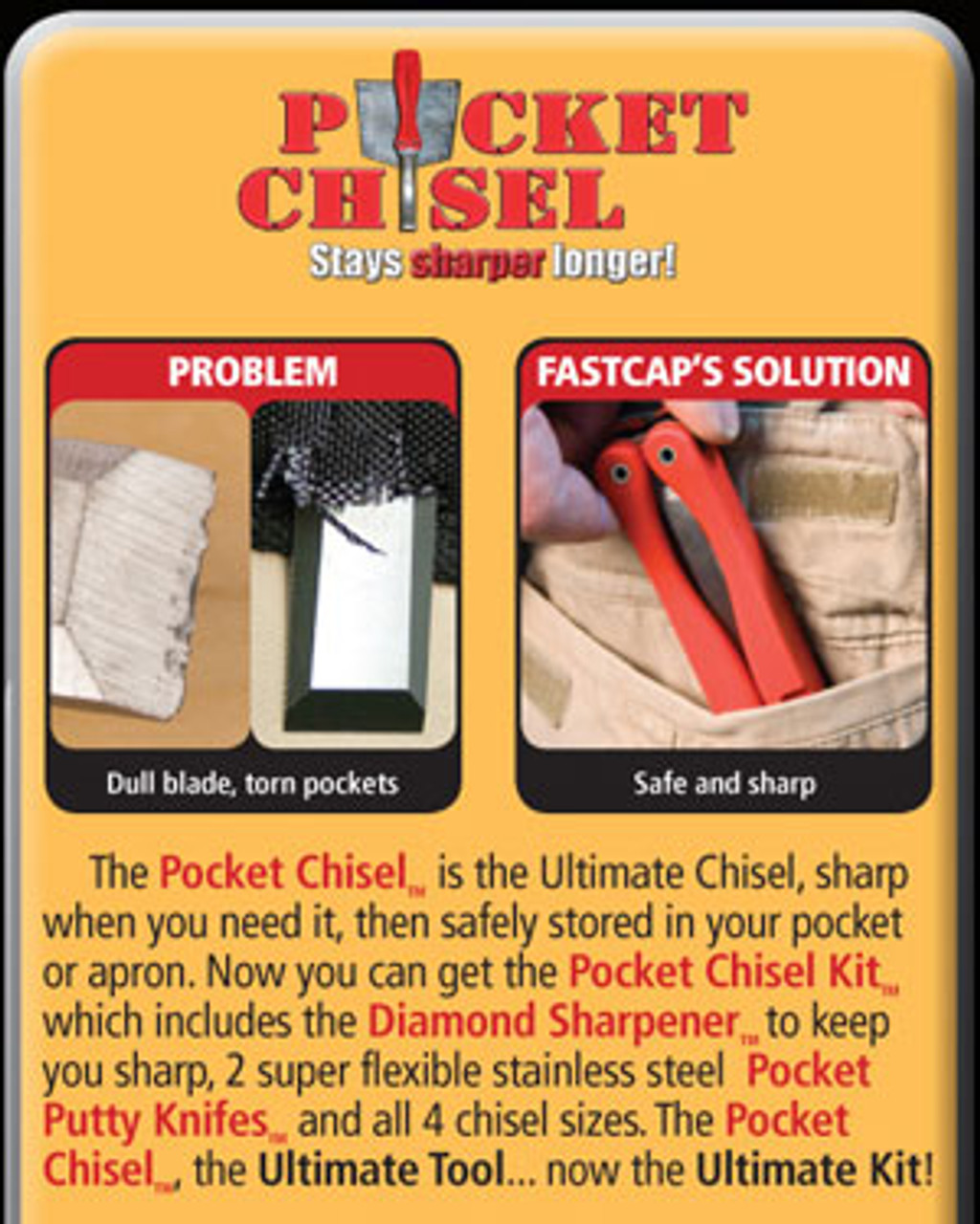 FastCap Folding Pocket Chisel 3 Sizes feature image