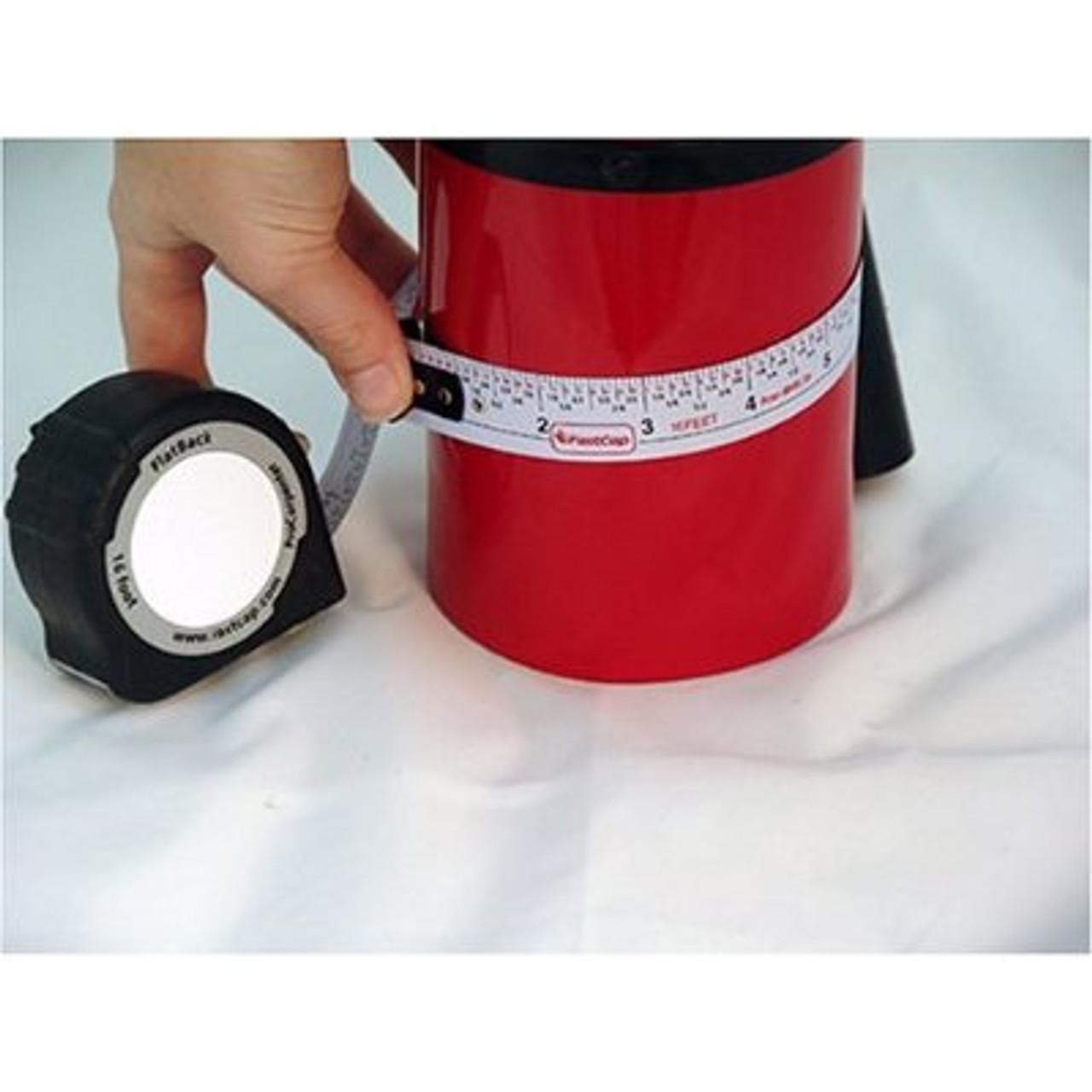 Flatback Standard & Metric Measuring Tape 16 FT measuring round