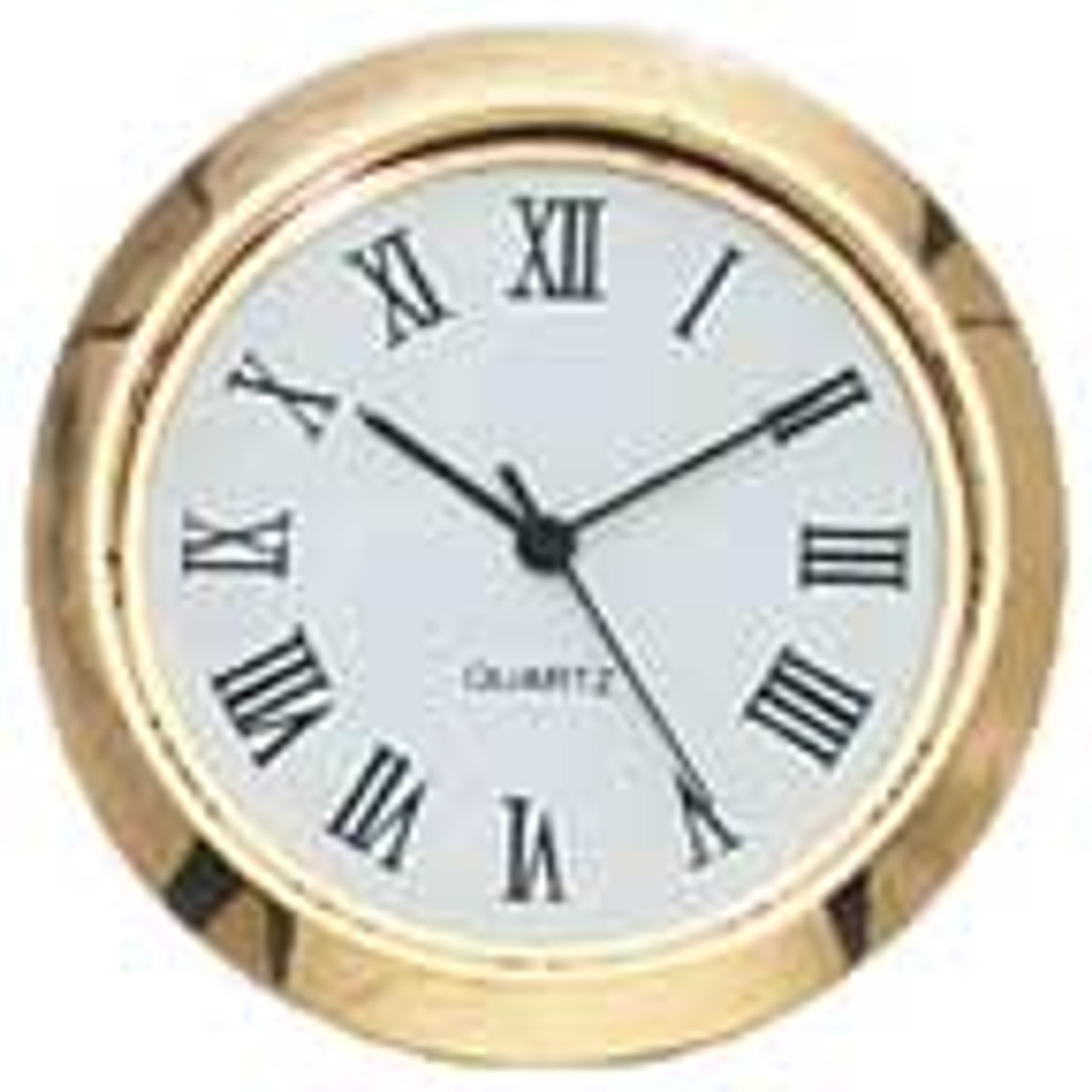 1-7/16 (36mm) White Face Roman Glass Lens Clock Insert/Fit Up