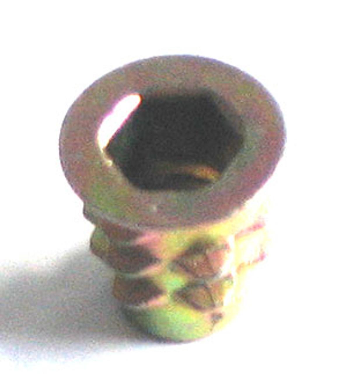 1/4-20 x 20mm Length  Flanged DIE CAST ZINC ALLOY HEXDRIVE THREAD INSERT