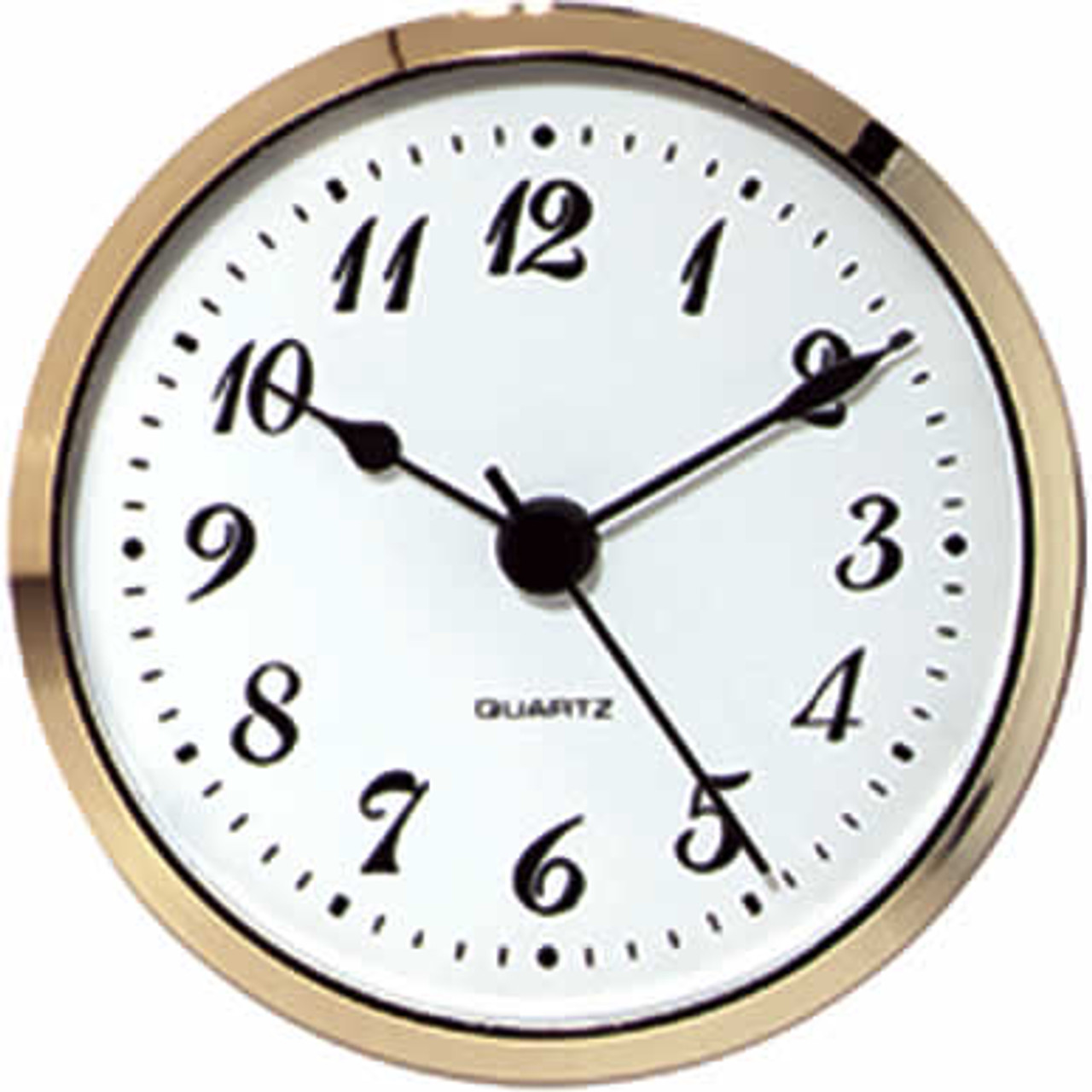 2-3/4 White face Arabic Clock Fit Up