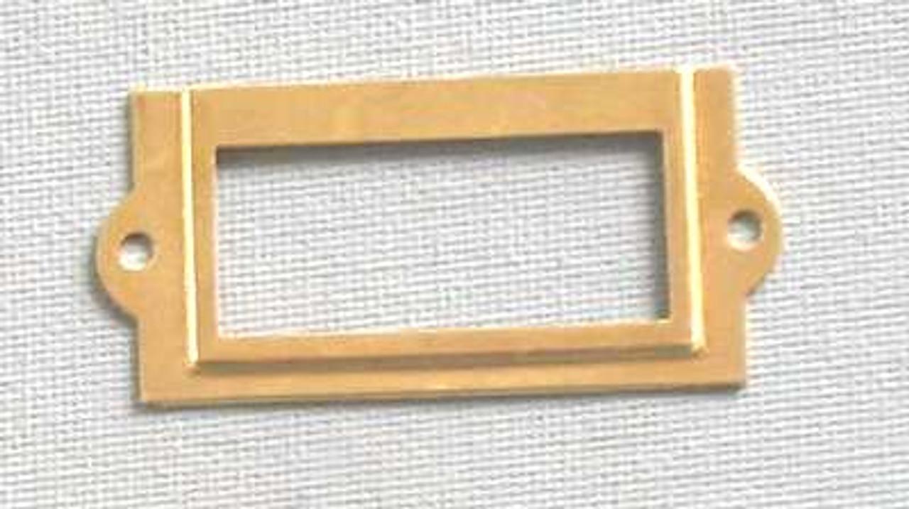 Card Holder 1x1-5/8 Brass Plated