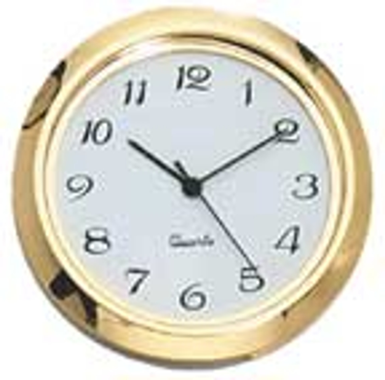 White Face Arabic 2 Inch (50mm) Clock Fit Up Inserts