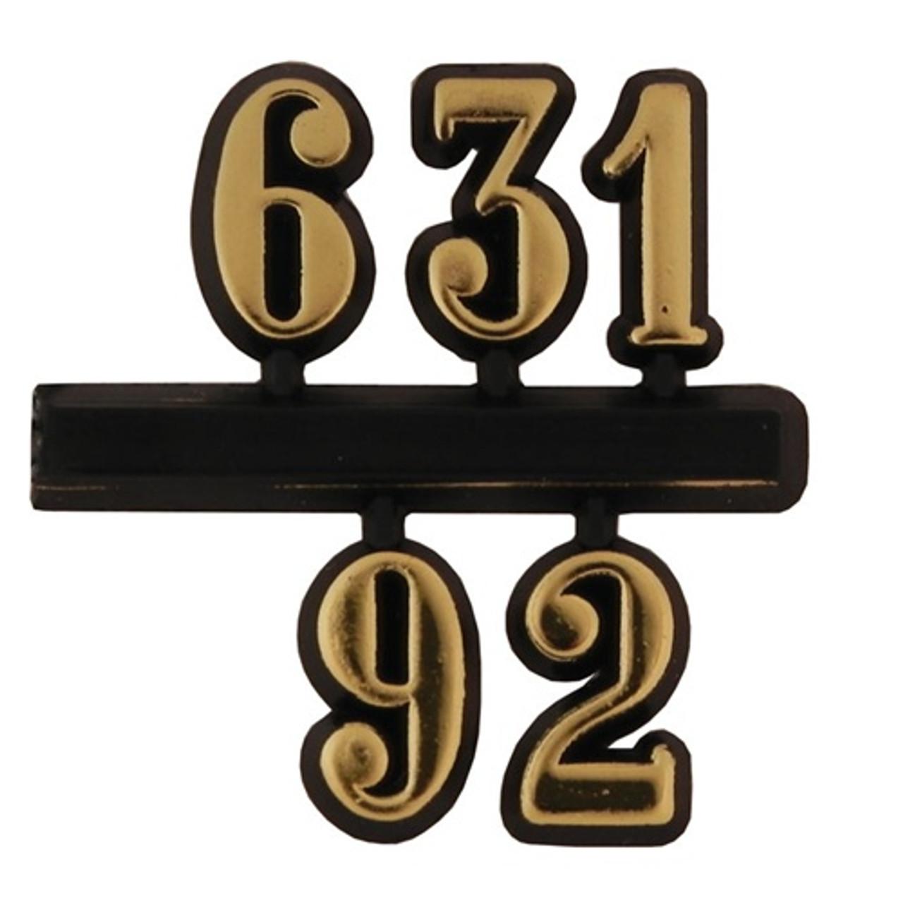 4 Digit Clock Numbers Self Adhesive