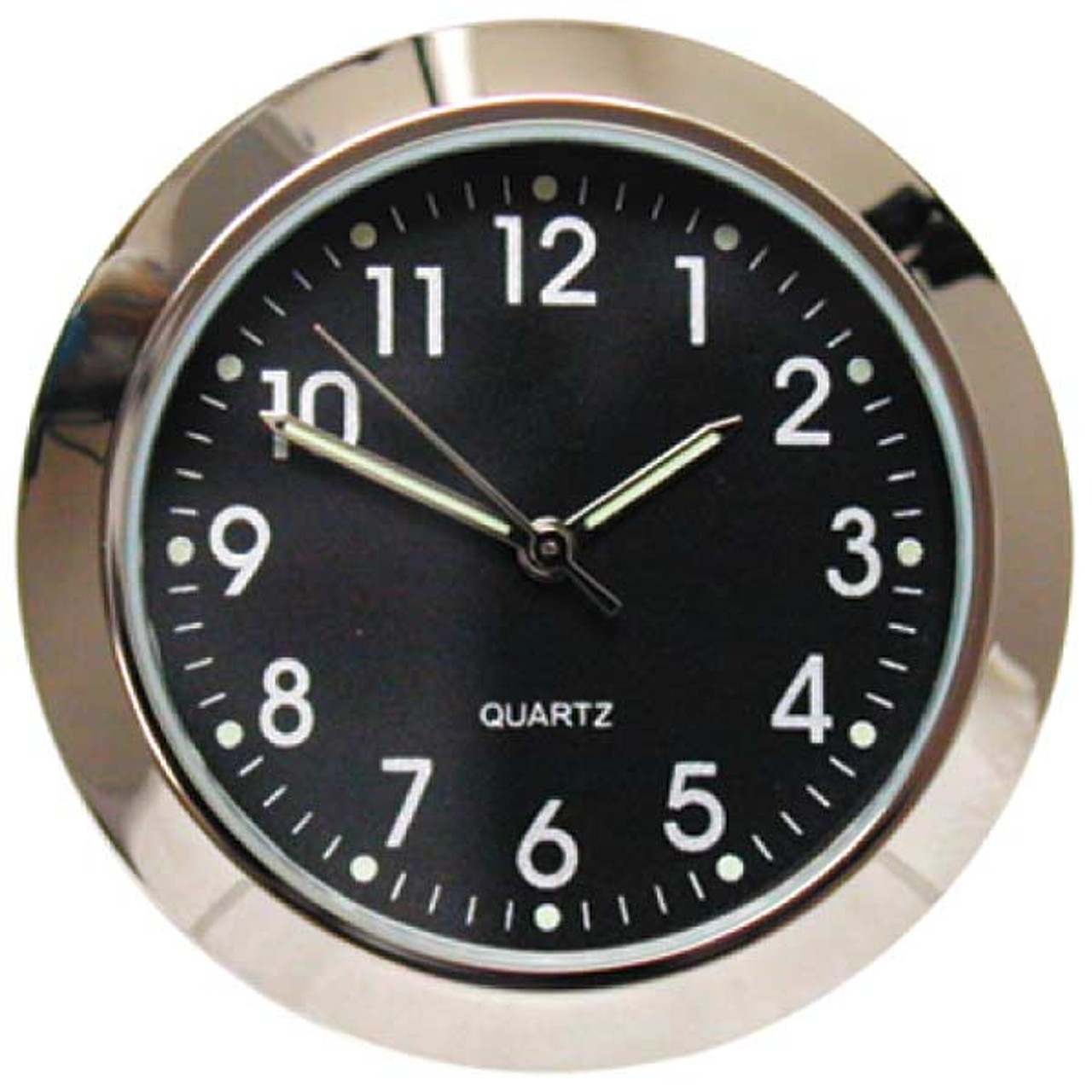 "Black 1 7/16"" (36mm) ""Shower Proof"" Miniature Quartz Clock Fit-ups"