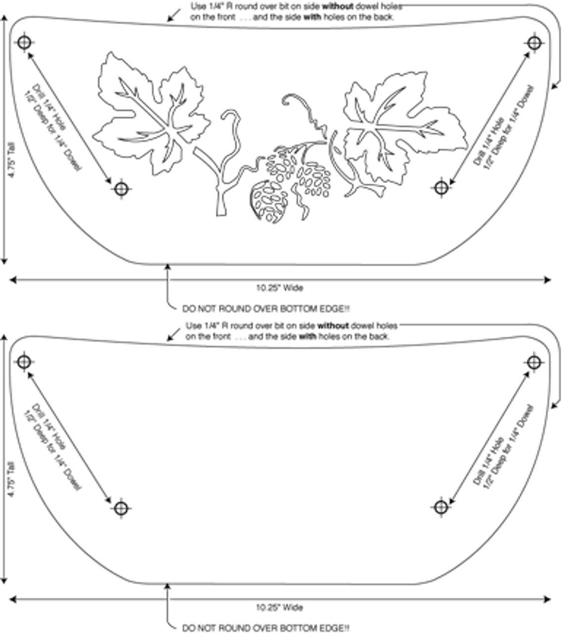 Leaf Plate Holder scroll saw pattern