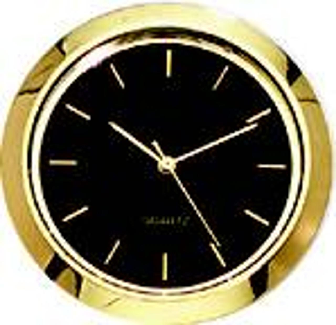 Black Face Marker 1 7/16 (36mm) Glass Lens Clock Insert/Fit Up