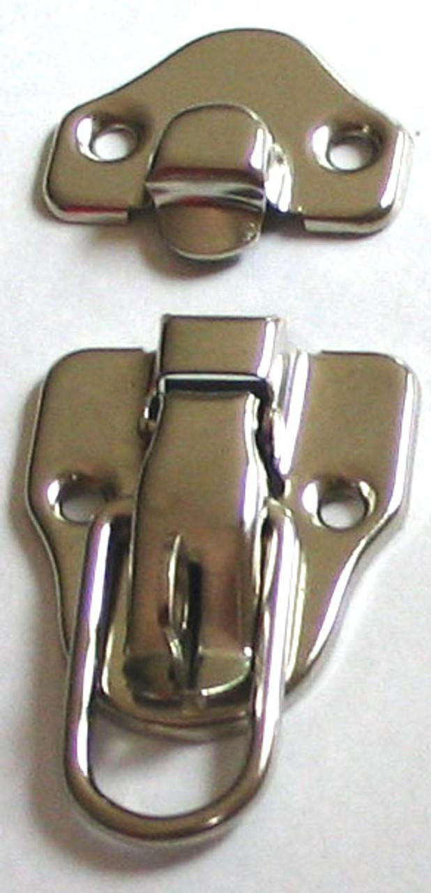 Drawbolt Latch w/Lock Nickel Plated