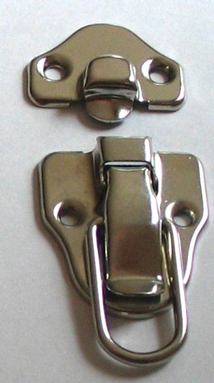 Drawbolt Latch Nickel Plated NO Lock Loop