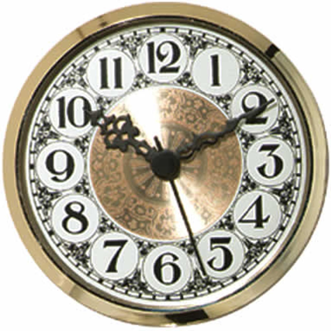 3-1/2 (90mm) White Fancy Arabic Clock Insert/Fit Up