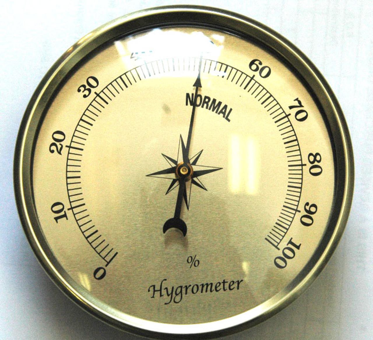 3 1/2 (90mm) Gold Hygrometer Insert/Fit Up
