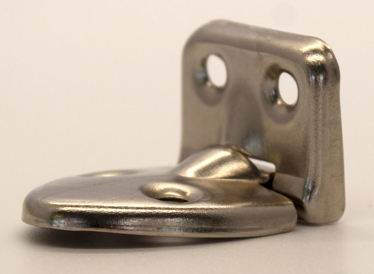 Teardrop Decorative Hinge With Stop Nickel Plated