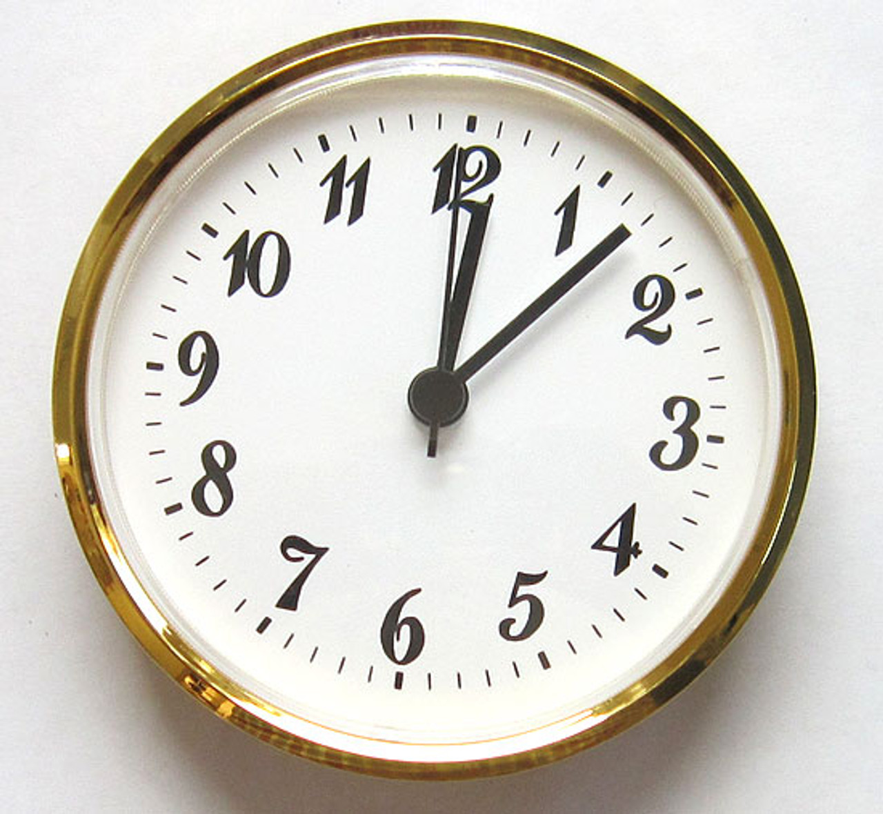 4 Inch White Face Arabic Clock Insert/Fit Up