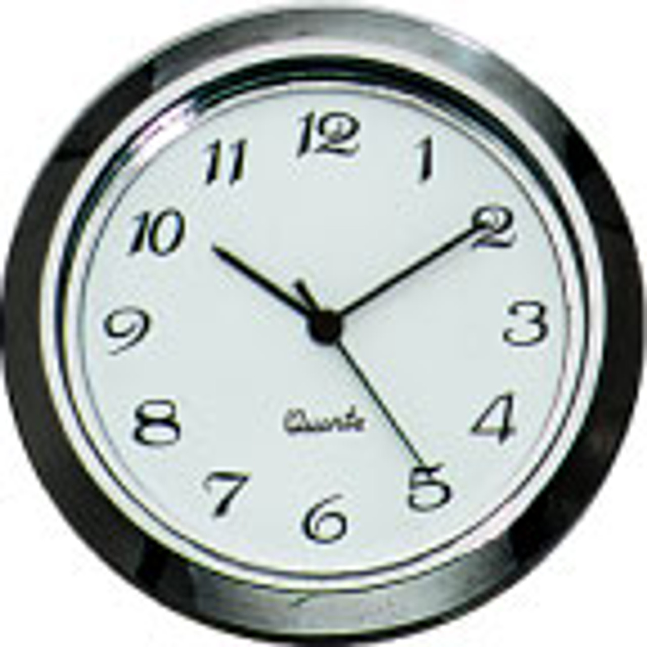 Gun Metal Arabic 1-7/16 (36mm) Clock Fit-Up Insert